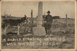 A Soldier Standing in the U.S. With His Ass in Mexico