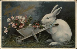 White Rabbit and Flowers
