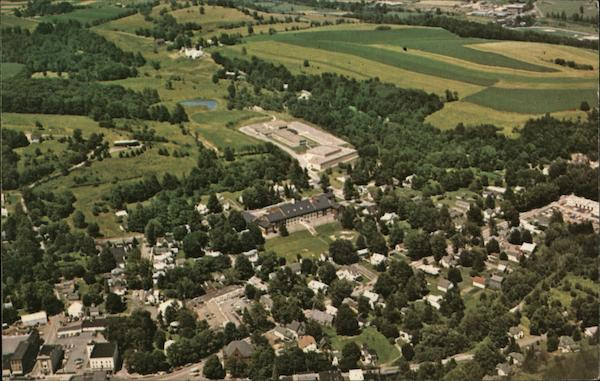 Aerial View Showing Jr. & Sr. High Schools Troy Pennsylvania