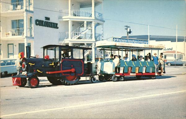 Beach Front Train Cape May New Jersey