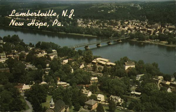 Lambertville NJ, Delaware River, and New Hope, PA. New Jersey