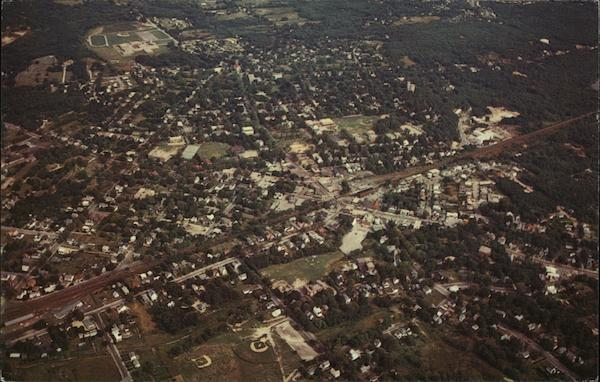 Aerial View of Town Franklin Massachusetts