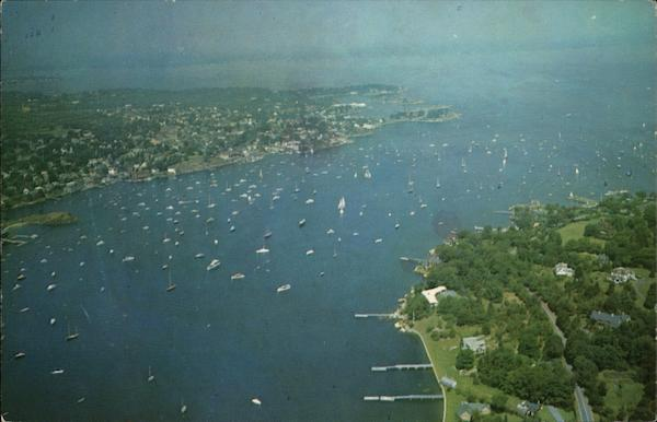 Aerial View of City Marblehead Massachusetts