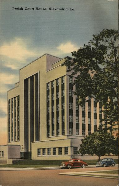 Parish Court House Alexandria La Postcard