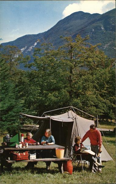 Lafayette Campground, Franconia Notch White Mountains New Hampshire