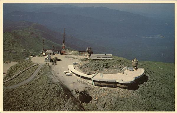 Aerial View of Summit of Mt. Washington Whtie Mountains New Hampshire