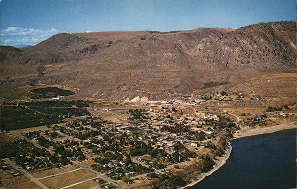 Aerial View of Town Brewster Washington