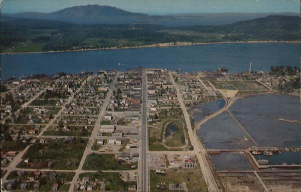Aerial View Looking North Anacortes Wa Postcard