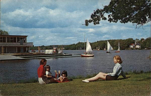Watching the Sailboats Quinsigamond State Park Massachusetts