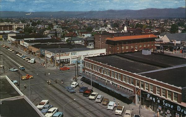 Looking North-East From Top of Medical-Dental Bldg., Downtown Everett Washington