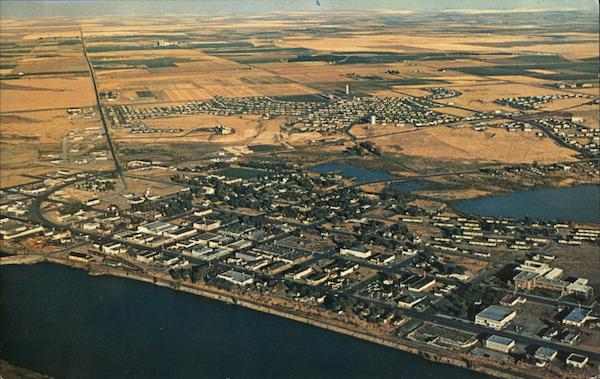 Aerial View of The Fastest Growing City In The State Adjacent to Larson Air Force Base Moses Lake Washington