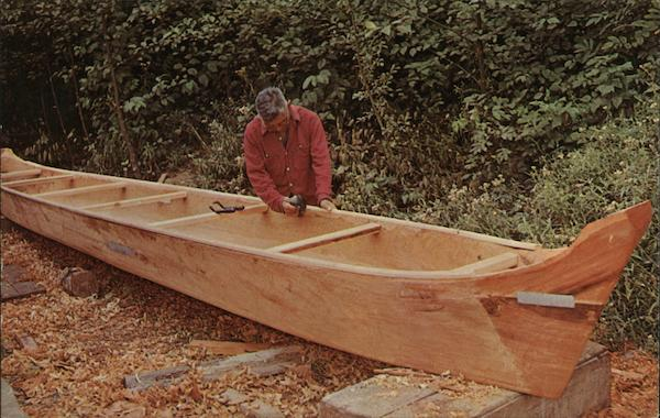 Indian Canoe Maker - Theodore Hudson, Quillayute Indian