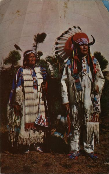 Chief Benjamin and Wife Native Americana