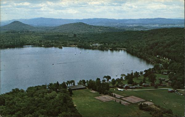 Aerial view of Lake Lake Dunmore Vermont