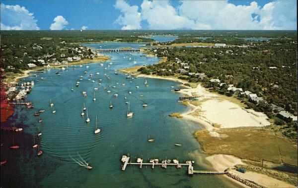 Air View of Bass River Cape Cod Massachusetts
