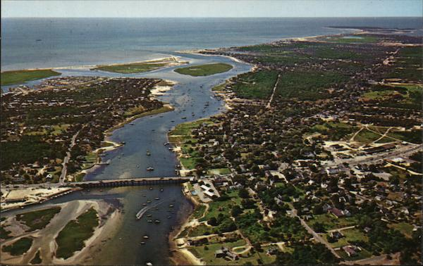 Aerial View of Town Bass River Massachusetts