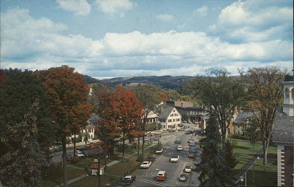 View of Town Woodstock Vermont