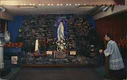Grotto in Our Lade of Lourdes Chapel of Roadside America