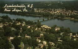 Lambertville NJ, Delaware River, and New Hope, PA.