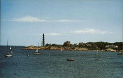 Marblehead Harbor Looking Towards Marblehead Neck Postcard