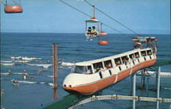 Ski Ride & Monorail Ride with Ocean and Bathers