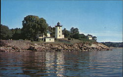 Hospital Point and Lighthouse, Beverly Harbor Postcard