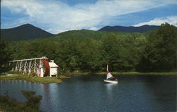 Indian Head Resort - Old Water Wheel and Mt. Liberty
