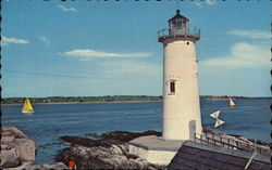 Fort Point Lighthouse Postcard