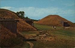 Fort Lincoln State Park - Earth Lodges Postcard