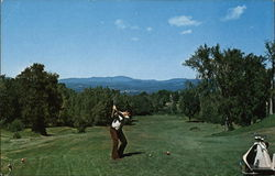 Barre Country Club Golf Course Postcard