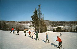 Beginners Learning to Ski