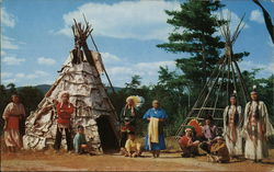Indian Chief and Family in Residence at Indian Village
