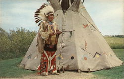 Standing Eagle (George Bryan) and Buffalo Hide Tipi
