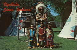 Ogallala Sioux Indians, Chief Isadore Whitecalf and Children