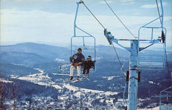 Okemo Mountain Chair Lift Postcard