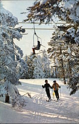 Stratton Mountain - Skiers and Chairlift