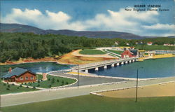 New England Electric System - Wilder Station Postcard