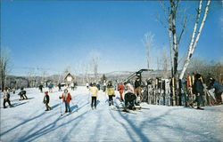 Haystack Mountain Ski Area - Skiers at The Base