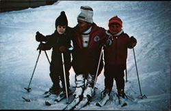 Trio of Skiers at Mad River Glen