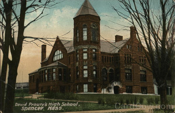 David Prouty's High School Spencer Massachusetts