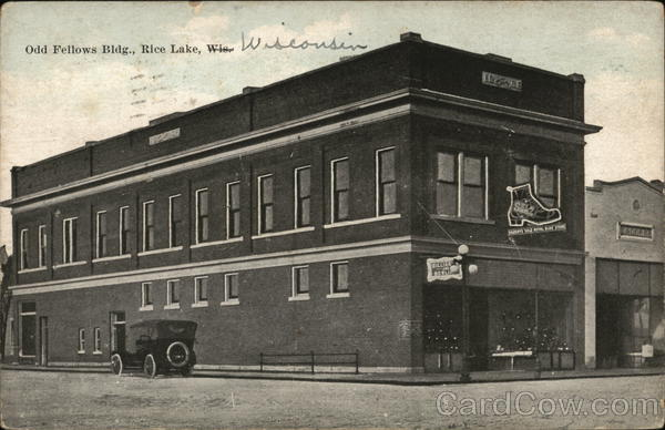 Odd Fellows Building Rice Lake Wisconsin