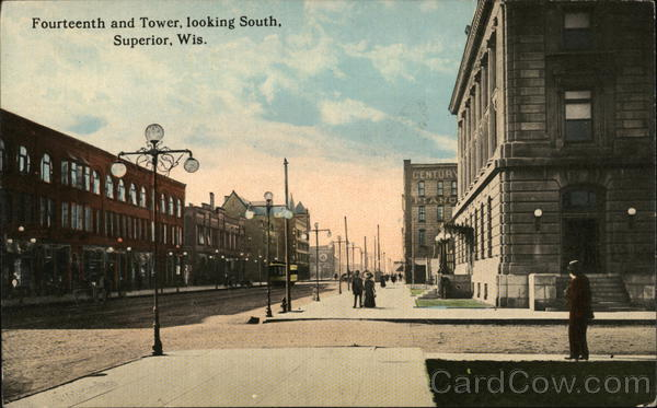 Fourteenth and Tower, Looking South Superior Wisconsin