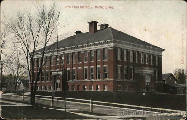 New High School Monroe Wisconsin