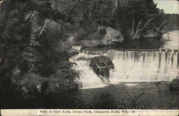 Dam at Glen Loch, Irvine Park Chippewa Falls Wisconsin
