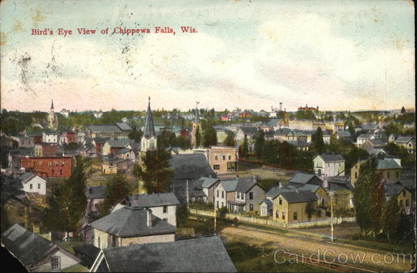 Bird's-Eye View Chippewa Falls Wisconsin