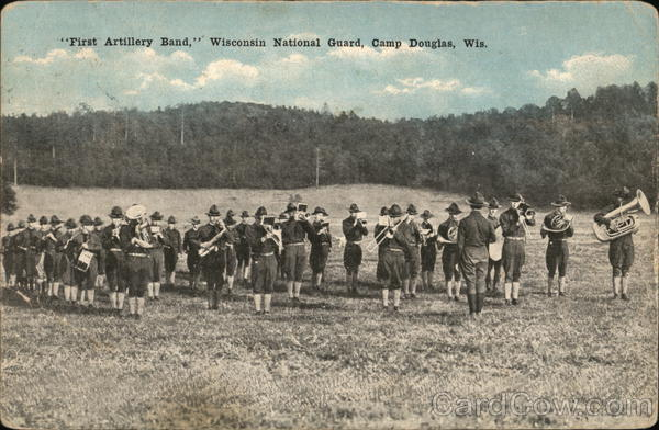 First Artillery Band, Wisconsin National Guard Camp Douglas