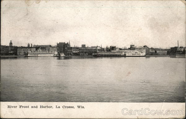 River Front and Harbor La Crosse Wisconsin