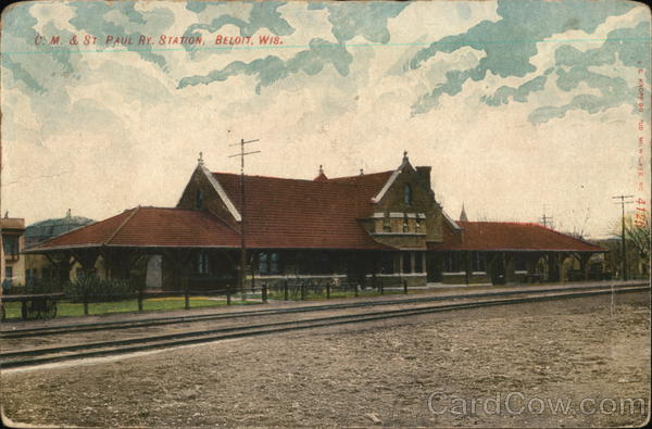 C M & St. Paul Ry. Station Beloit Wisconsin