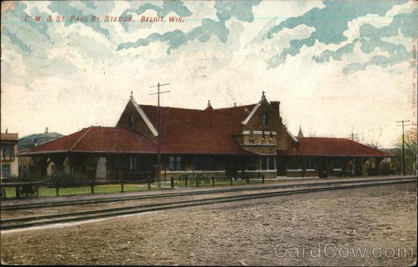 C. M. & St. Paul Railway Station Beloit Wisconsin