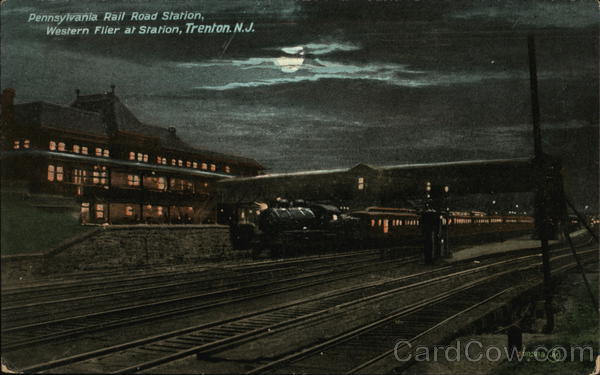 Pennsylvania Rail Road Station - Western Flier at Station Trenton New Jersey